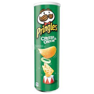 Pringles, 165 г, Чипсы картофельные,  С сыром и луком, Тубус