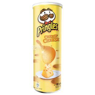 Pringles, 165 г, Чіпси картопляні, Зі смаком сиру, Тубус