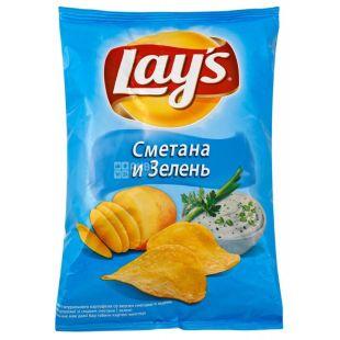 LAY'S, 30 г, Чипсы картофельные, Сметана и зелень