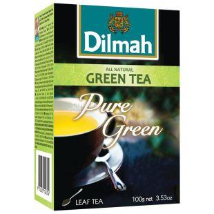 Dilmah, Pure Green, 100 г, Чай Ділма, зелений, листовий