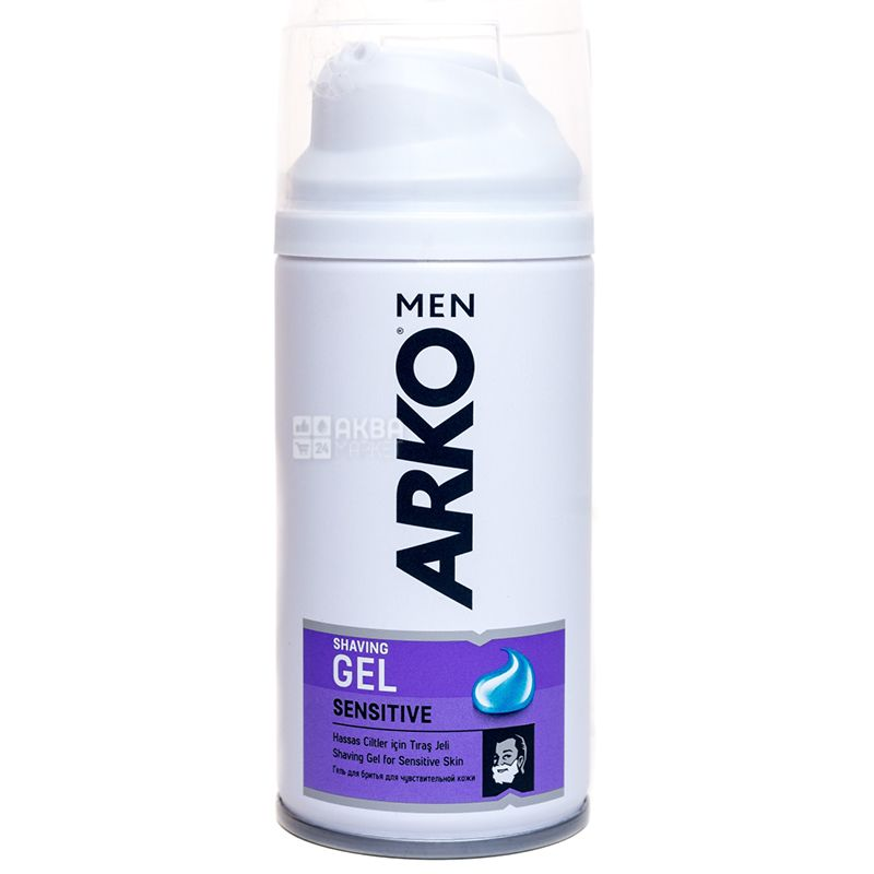 Arko Sensitive, Гель для гоління для чутливої шкіри,  75 мл