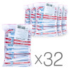 ATA, 32 packs of 100 sticks, White sugar sticks, Crystal
