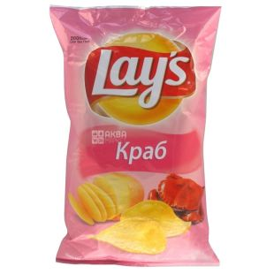 LAY'S, 200 g, Potato chips, Crab, m / s