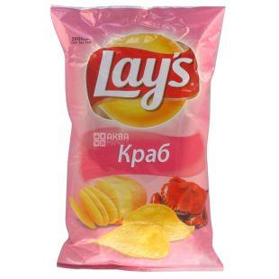 LAY'S, 200 г, Чипсы картофельные, Краб, м/у