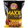 LAY'S, 120 г, Чипси картопляні, Maxx, Барбекю, Рифлені, м/у