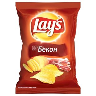 LAY'S, 30 g, Potato chips, Bacon, m / s