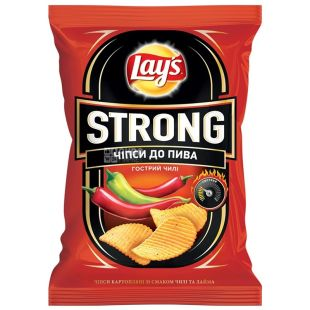 LAY'S, 120 g, Chips, Strong, Chile, m / s