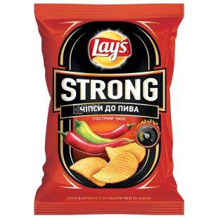 LAY'S, 120 г, Чипси картопляні, Strong, Чилі, м/у