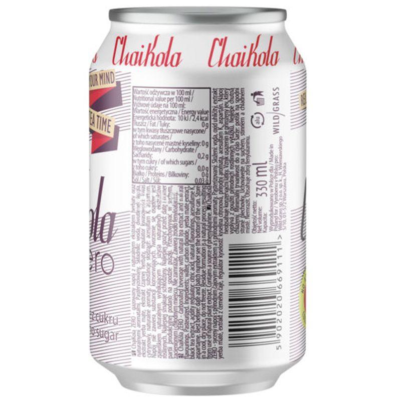 Wild Grass ChaiKola Zero, Напиток газированный, 0,33 л, ж/б
