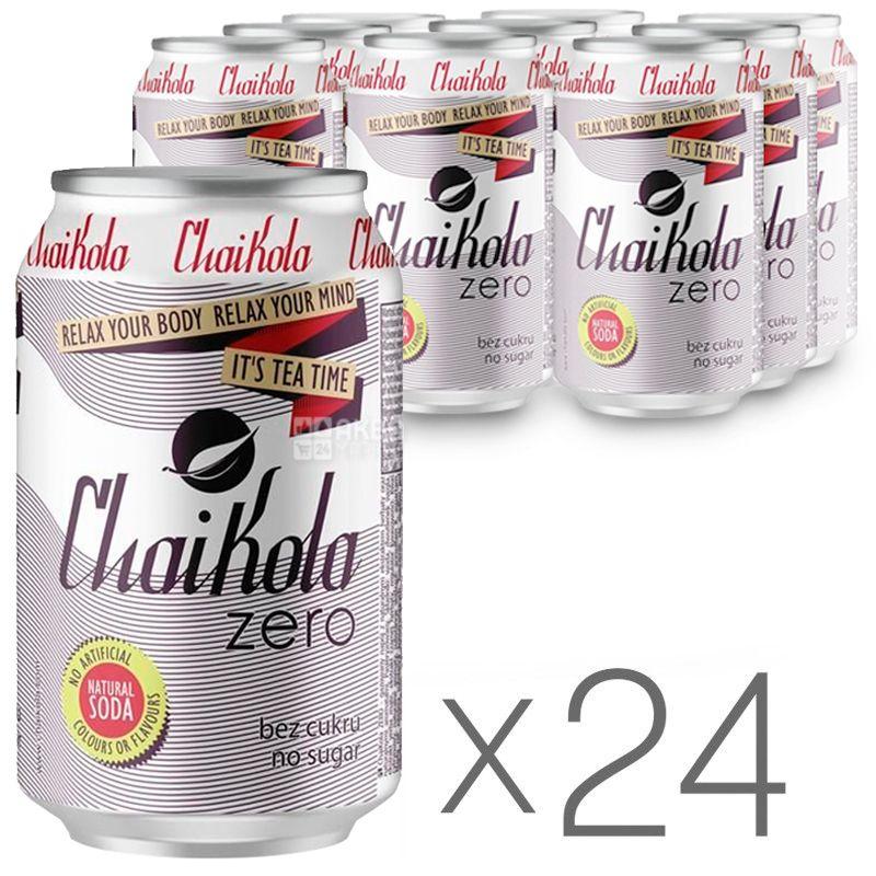 Wild Grass ChaiKola Zero, Напій газований, 0,33 л, упаковка 24 шт., ж/б