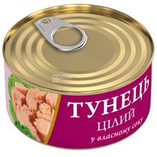 Fish Line, 185 g, Whole Tuna, In own juice