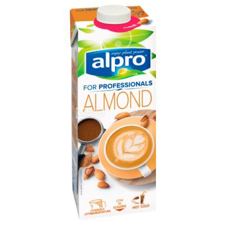 Alpro Almond for Professionals, 1л, миндальное молоко профешнл