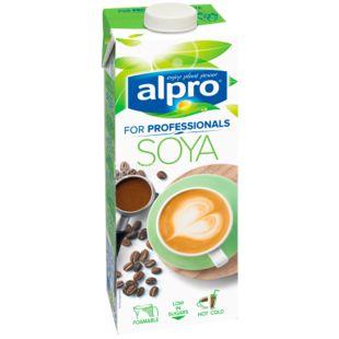 Alpro Soya for Professionals (соевое молоко), 1л, Напиток соевый натуральный Алпро