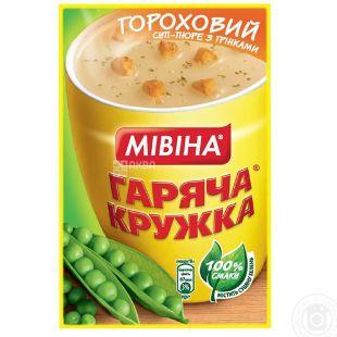 Mivina, 19 g, Cream Soup, Hot Mug, Pea with Croutons, m / s