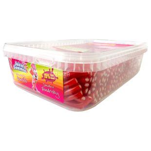 Juicee Gummee, 1,6 кг, Жувальні цукерки, Полуничні олівці, М / у