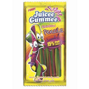 Juicee Gummee, 85г, Жувальні цукерки, Райдужні олівці
