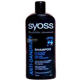 Syoss, 500 мл, Шампунь, Против перхоти, Anti-Dandruff Platin Control 100 Extreme, ПЭТ