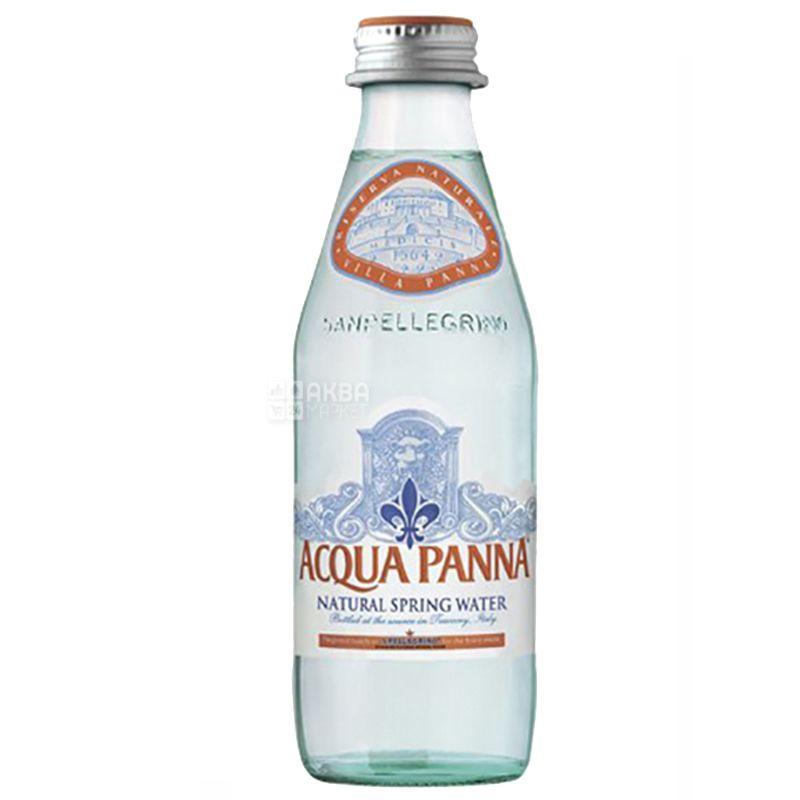 Acqua Panna, 0,25 л, Упаковка 24 шт., Аква Панна, Вода мінеральна негазована, скло