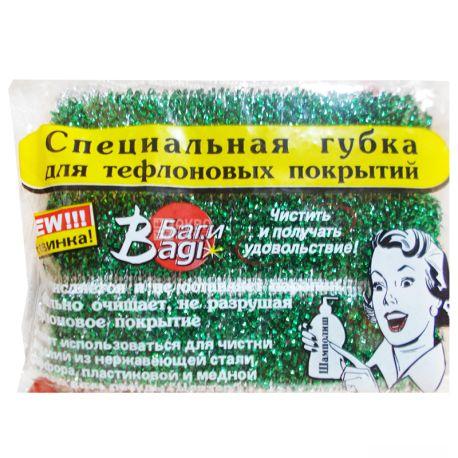 Bagi, 1 шт., Губка мягкая, Для тефлоновых покрытий, м/у