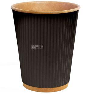 Craft Glass paper corrugated black 400 ml, 25 pcs, D90