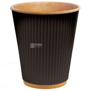 Craft Glass paper corrugated black, 180 ml, 25 pcs, D71