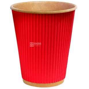 Craft Glass paper red corrugated, 110 ml, 25 pcs, D60