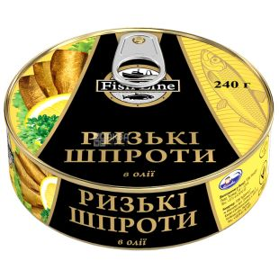 Fish Line, 240 г, Шпроти ризькі