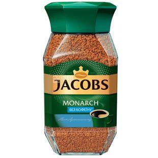 Jacobs Monarch, 95 г, Кофе Якобс Монарх, растворимый, без кофеина, стекло