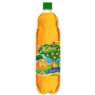 Живчик, Апельсин, 1,5 л, Напиток соковый, с экстрактом облепихи, сильногазированный, ПЭТ