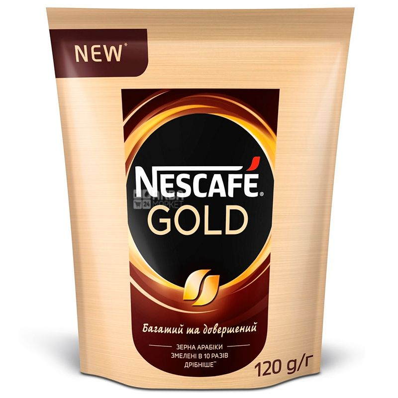 Nescafe Gold, 120 г, Кофе Нескафе Голд, растворимый