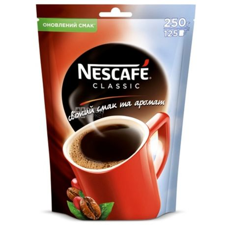 Nescafe Classic, 250 г, Кава Нескафе Классік, розчинна