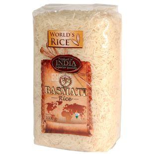 World's Rice (ВР), Рис, Басматі, довгозернистий, 1 кг