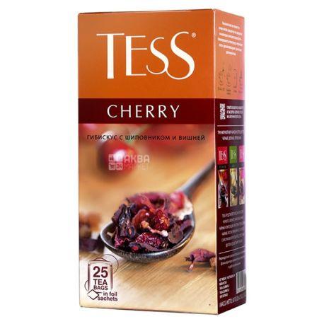 Tess Cherry, 25 пак., Чай Тесс, Черри,  травяной с вишней