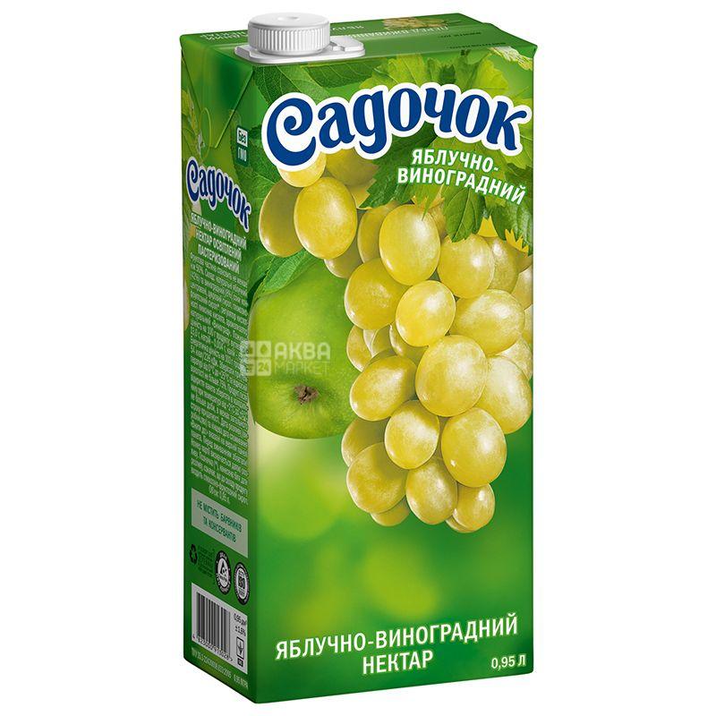 Cадочок, Яблочно-виноградный, 0,95 л, Нектар натуральный