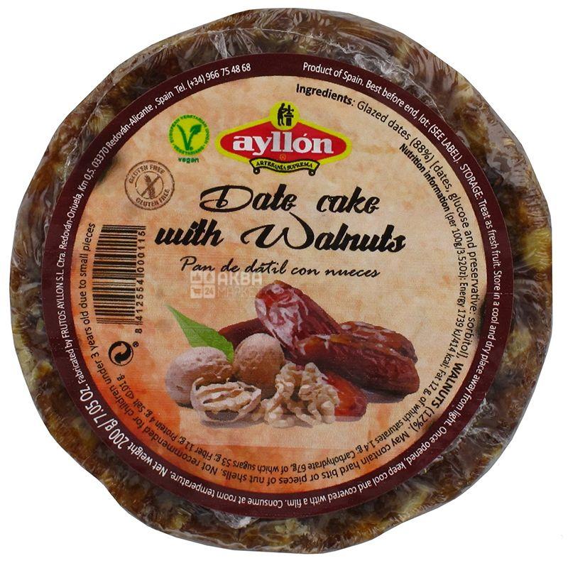 Ayllon, Фруктовий пиріг, Фінік - горіх, 200 г, Обгортка