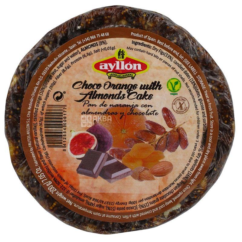 Ayllon Фруктовий пиріг, Апельсинові цукати з мигдалем, 200 г, Обгортка