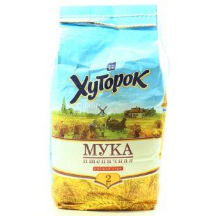 Хуторок, Мука пшеничная, высший сорт, 2 кг