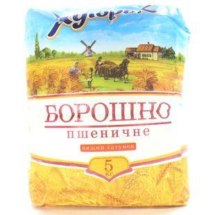 Хуторок, Мука пшеничная, высший сорт, 5 кг