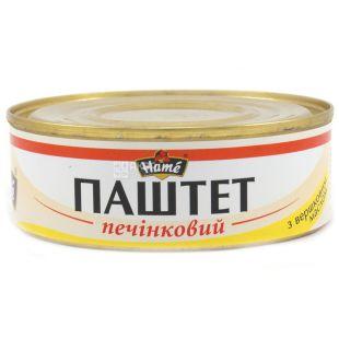 Hame Паштет Печеночный со сливочным маслом, 240 г, Жестяная банка