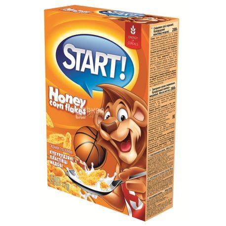 Start, 280 г, Хлопья Старт, кукурузные, глазированные, сухой завтрак для детей от 6-ти лет