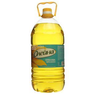 Олейна масло подсолнечное прессовое, 3л, пэт бутылка
