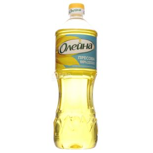 Олейна масло подсолнечное прессовое, 0,87 л, пэт бутылка