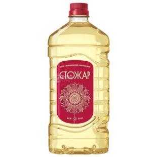 Stozhar sunflower oil refined, 1.6 liter, pet bottle