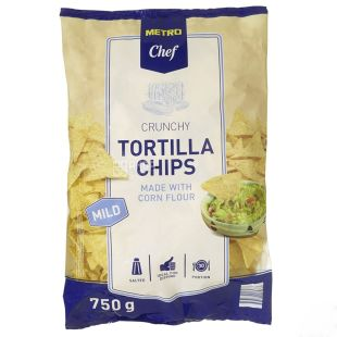 Mеtro Chef Тортилла чипсы кукурузные средне-острые, 750г, м/у