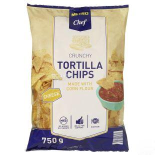 Metro Chef Тортилла чіпси кукурудзяні гострі, 750 г, м/у