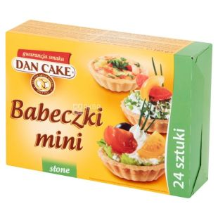 Dan Cake Тарталетки песочные для соленых блюд, 165 г, Коробка