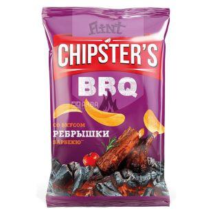 Flint Chipsters чіпси картопляні Реберця барбекю, 70г, м/у