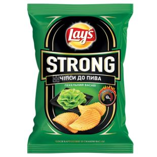 Lay's чипсы Strong со вкусом васаби, 120 г, м/у