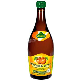 Kuhne, Оцет яблучний, 5%, 750 мл, Скляна пляшка