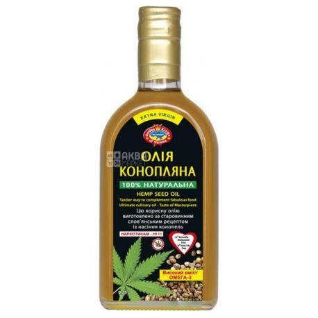 Golden Kings of Ukraine Олія конопляна, 350 мл, Скляна пляшка